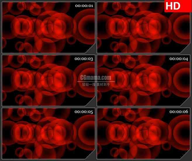 BG1658红色圆球旋转合成特效led大屏视频背景素材