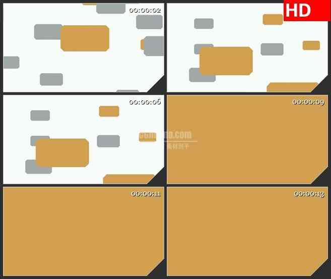 BG1680灰色黄色光条横向飞出白色背景动态LED高清视频背景素材