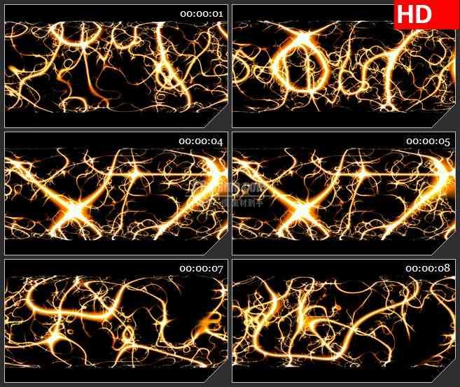 BG1682火焰纹理图案齿轮圆柱旋转高清led大屏特效合成视频素材
