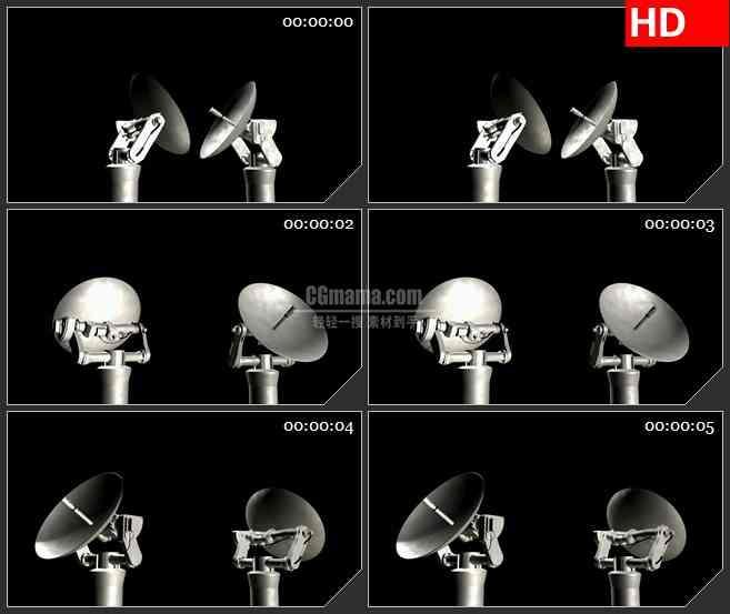 BG1685间谍卫星旋转高清特效合成视频素材