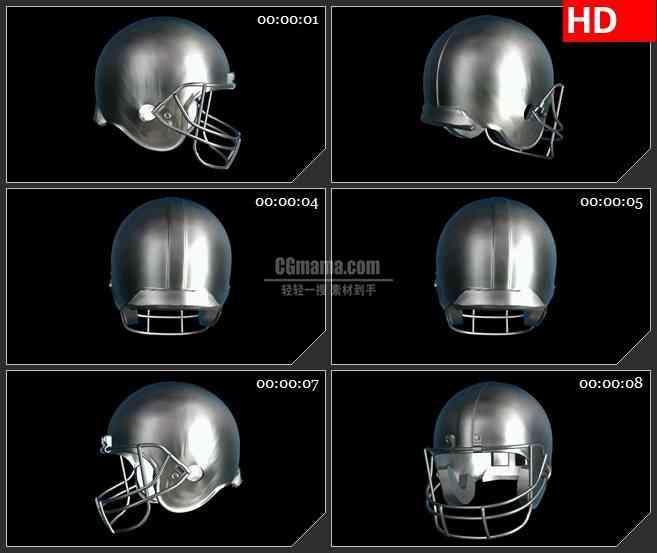 BG1697金属头盔高清合成特效视频素材
