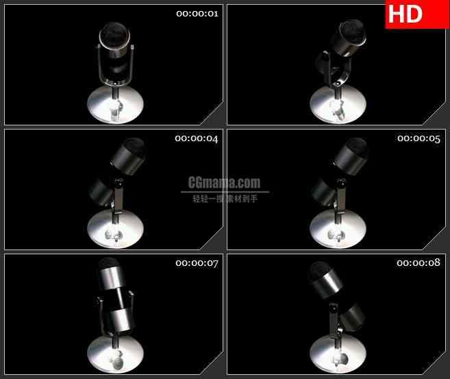 BG1698金属银话筒高清特效合成视频素材