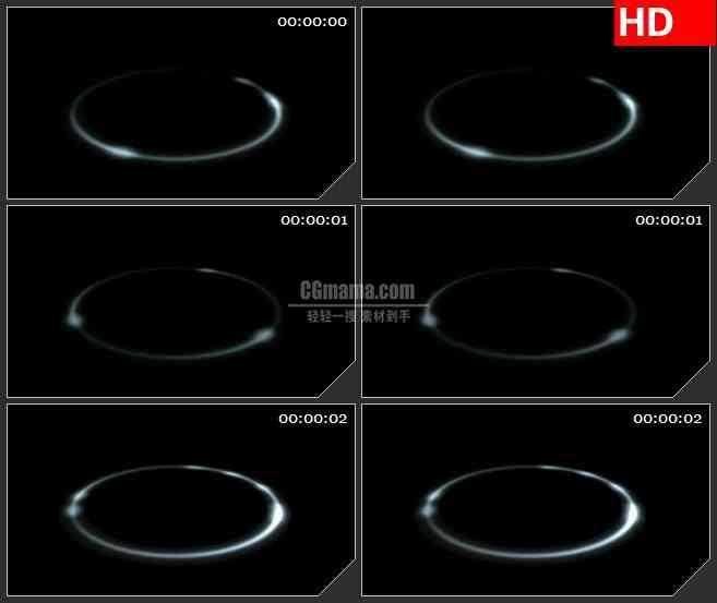 BG1707快速转动白色圆环光圈动态LED高清视频背景素材
