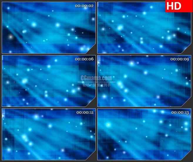 BG1711蓝色半透明方块网格叠加淡蓝色光斑动态LED高清视频背景素材