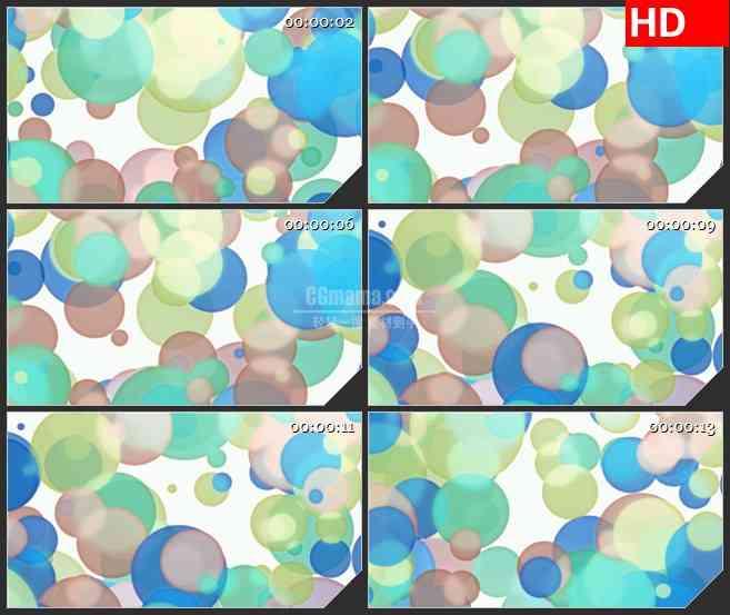 BG1729蓝色绿色咖啡色光斑圆点多彩运动动态LED高清视频背景素材.