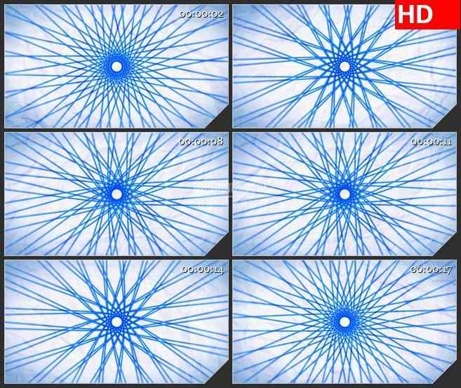 BG1730蓝色螺旋交叉网轮旋转白色褶皱纸张背景动态LED高清视频背景素材