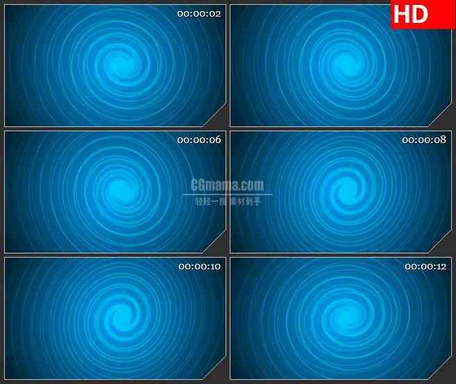 BG1741蓝色漩涡旋转迷幻动态LED高清视频背景素材