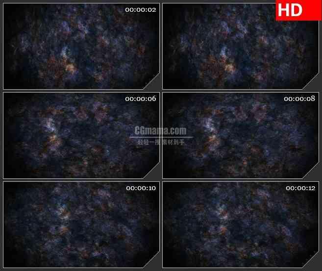 BG1745蓝紫色星系太空转动动态LED高清视频背景素材
