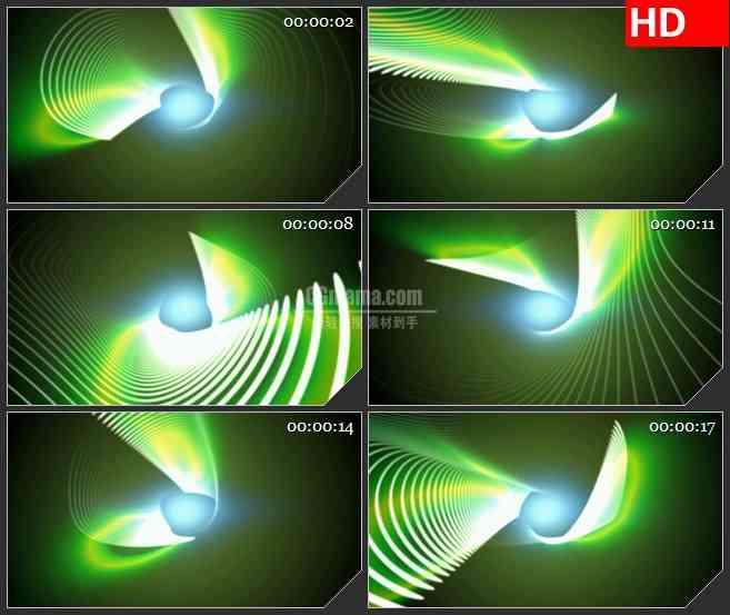 BG1759绿色条纹螺旋荧光变幻动态LED高清视频背景素材