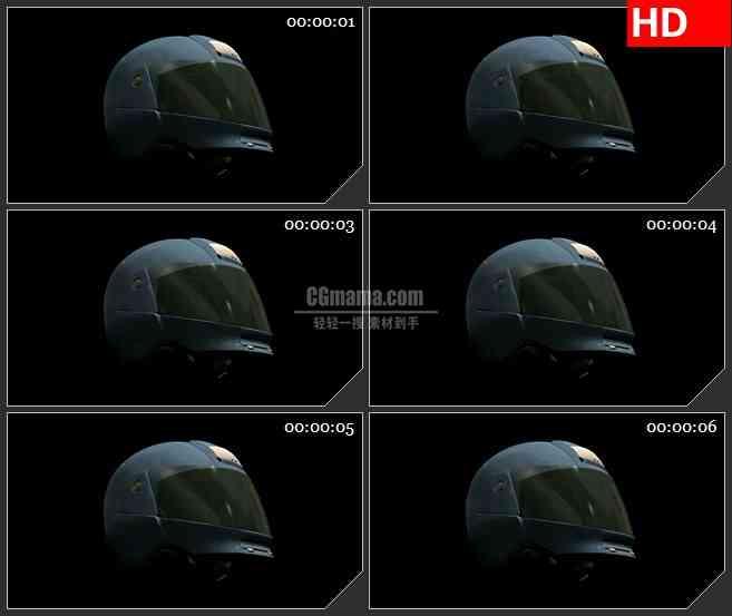 BG1770摩托车金属头盔特效合成高清视频素材