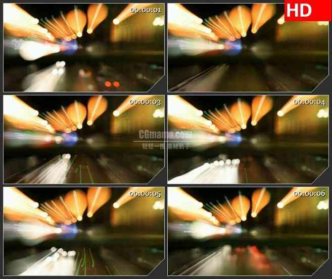 BG1774桥梁霓虹光影梦幻动态LED高清视频背景素材