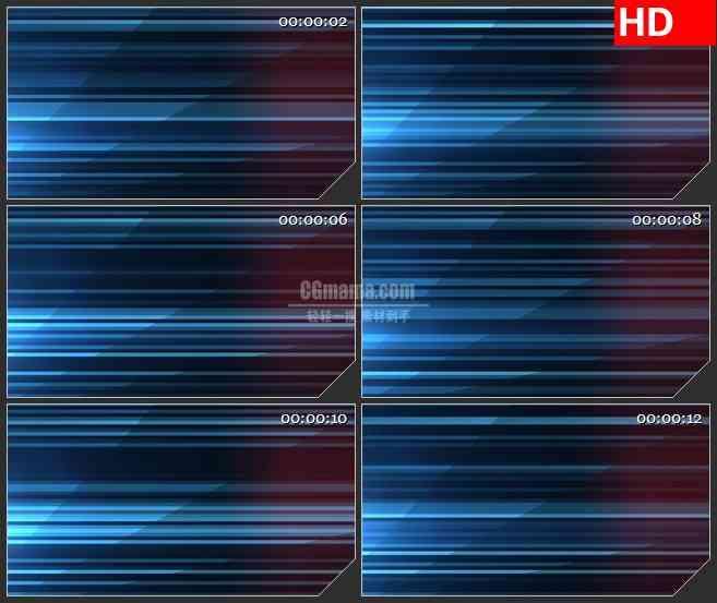 BG1808闪烁的蓝色光条 高清LED大屏视频背景素材