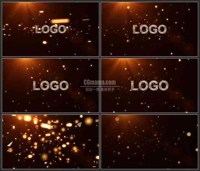 AE2831-大气爆发式粒子特效 LOGO展示