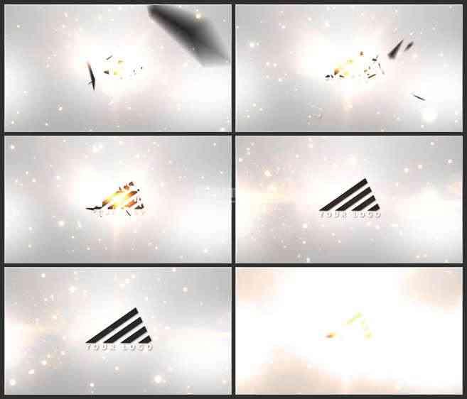 AE2869-七巧板组合式 LOGO展示 片头