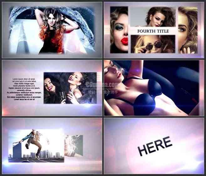AE2903-动感摇滚风 图文展示 宣传介绍片