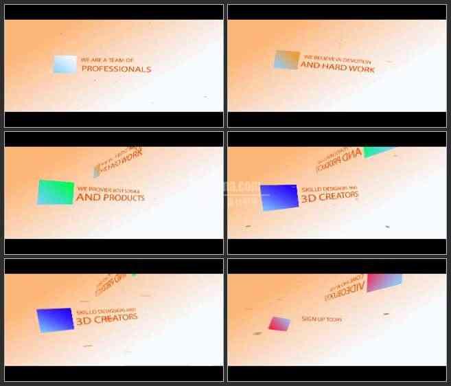 AE2937-3D空间 文本展示 宣传片