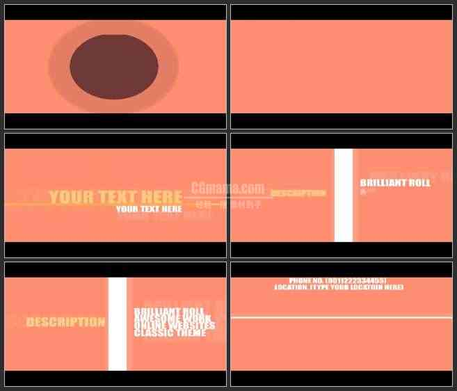 AE2948-二维色块动画 文本展示 企业宣传 LOGO文本展示