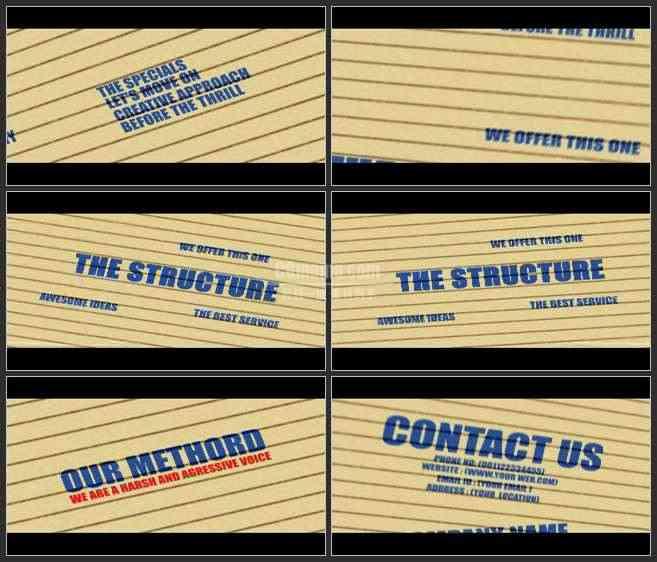 AE2951-印在栅栏上的文字 文本展示 宣传介绍片