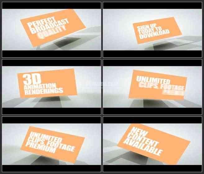 AE2960-3D盒子 文本展示 宣传介绍 片头