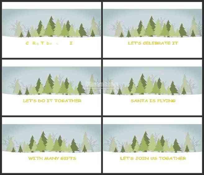 AE2966-雪地森林卡通 圣诞卡通 宣传片