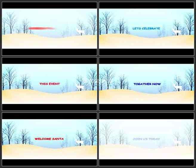 AE2971-圣诞鹿 文本展示 新年宣传片