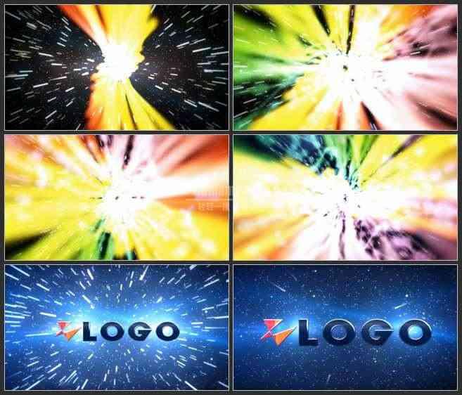 AE2974-放射式彩虹光线 LOGO展示