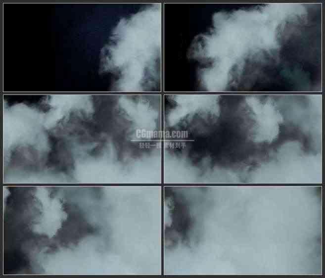 AE2998-阴沉的云雾 视频素材
