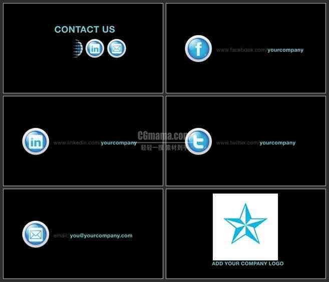 AE3004-社会媒体宣传 企业LOGO展示 商务类