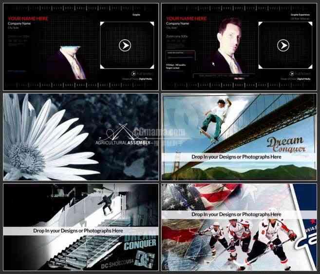 AE3012-数字化模拟效果 图文展示 宣传介绍片