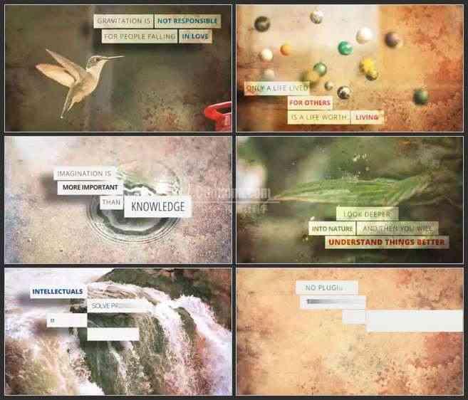 AE3022-自然实景 引用式文本展示 记录宣传片