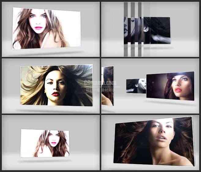 AE3037-3D空间 幻灯片展示 图片照片相册