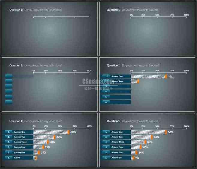 AE3038-商务类企业宣传 图表展示
