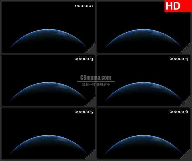 BG1847透明的alpha通道的地球高清特效合成视频素材