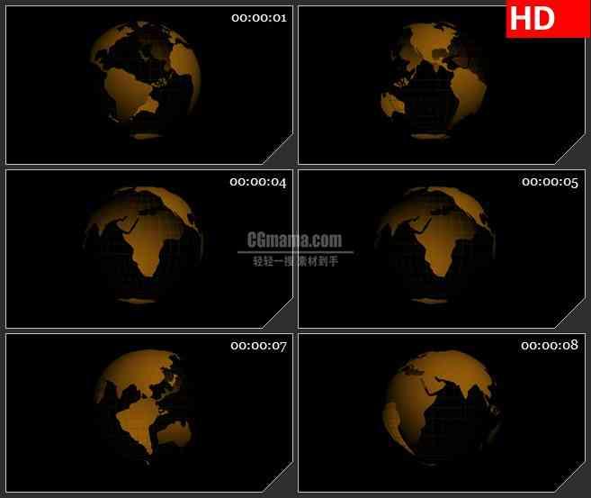 BG1848透明的alpha通道的地球旋转高清特效合成视频素材2