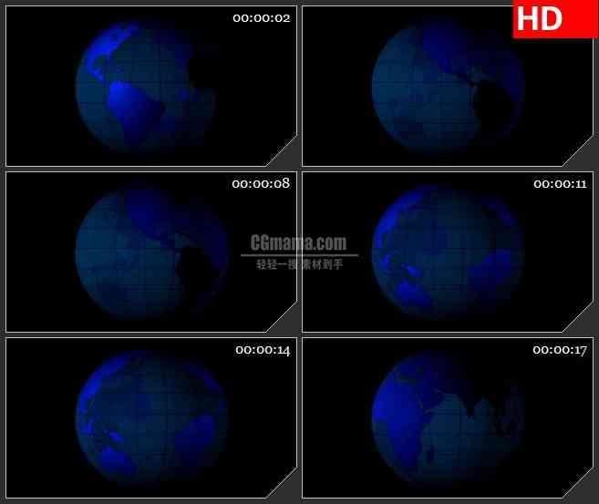 BG1850透明的alpha通道的地球转动高清特效合成视频素材