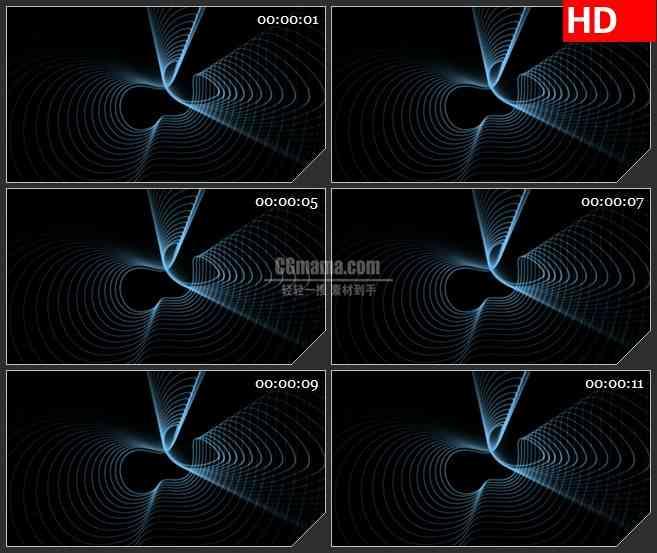BG1862透明叠加光效线条Alpha通道高清合成特效视频素材