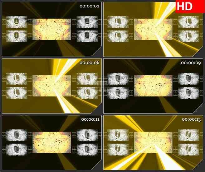 BG1893星光闪烁灯光虚拟舞台音乐会演唱会动态LED高清视频背景素材