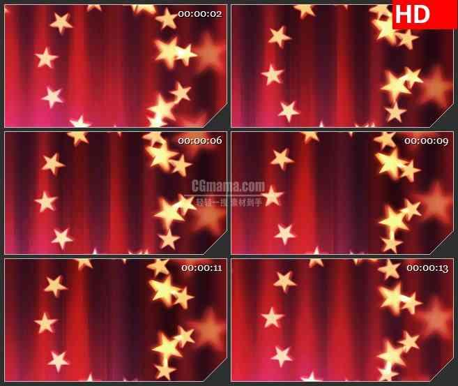 BG1897星星圆环旋转红色条纹背景动态LED高清视频背景素材