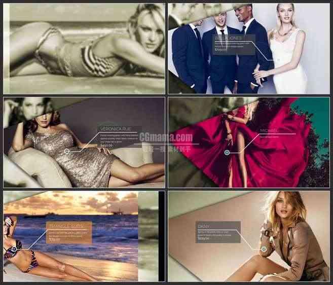 AE3052-时尚网站服装促销  图文展示 网页推广