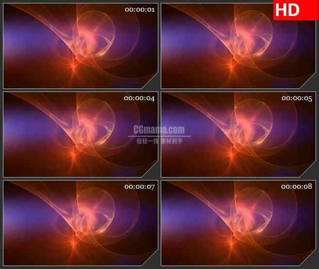 BG1915旋转的等离子体紫红色半透明波纹动态LED高清视频背景素材