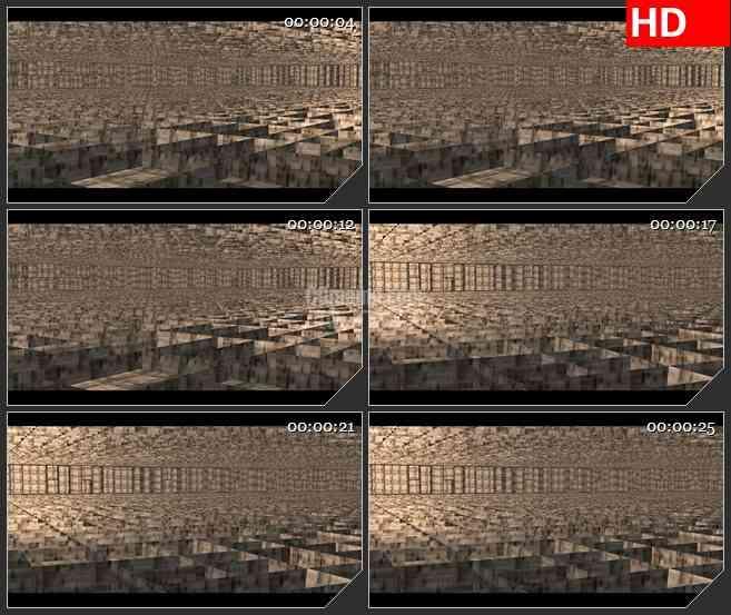 BG1917旋转的房间结构建筑高清led大屏视频背景素材