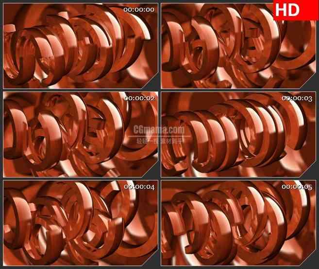 BG1933旋转的红色圆环时尚动感高清led大屏视频背景素材