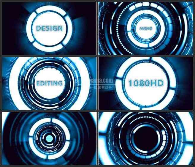 AE3074-聚焦科技漩涡中心 文本展示 LOGO宣传