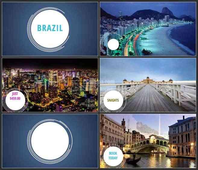 AE3085-旅行记录 图文视频展示 旅游宣传片