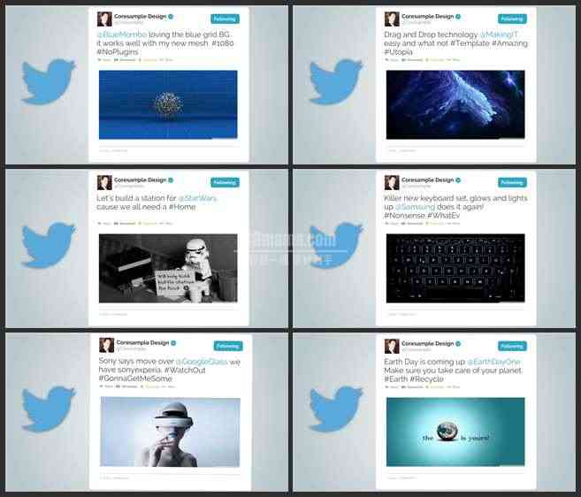 AE3086-推特页面展示 宣传介绍片