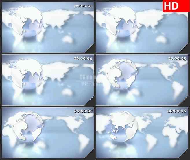 BG1976旋转滚动的地球世界地图高清led大屏视频背景素材