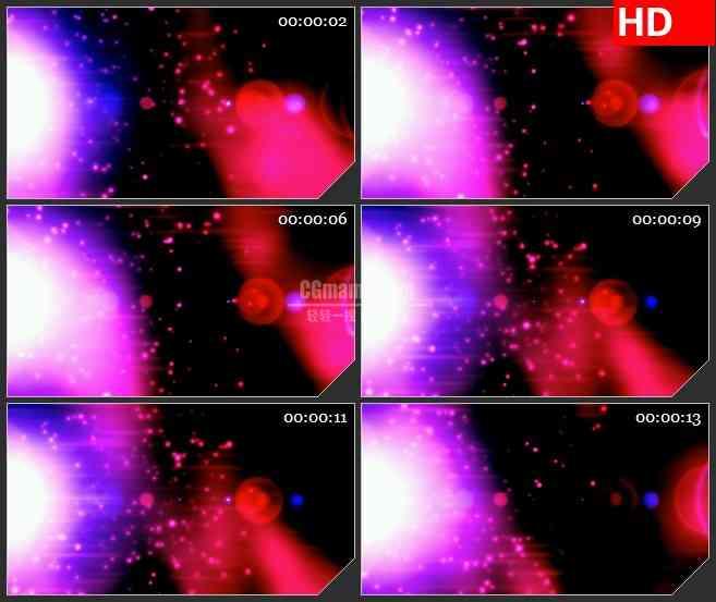 BG1985旋转太阳紫红色耀斑粒子飞舞动态LED高清视频背景素材