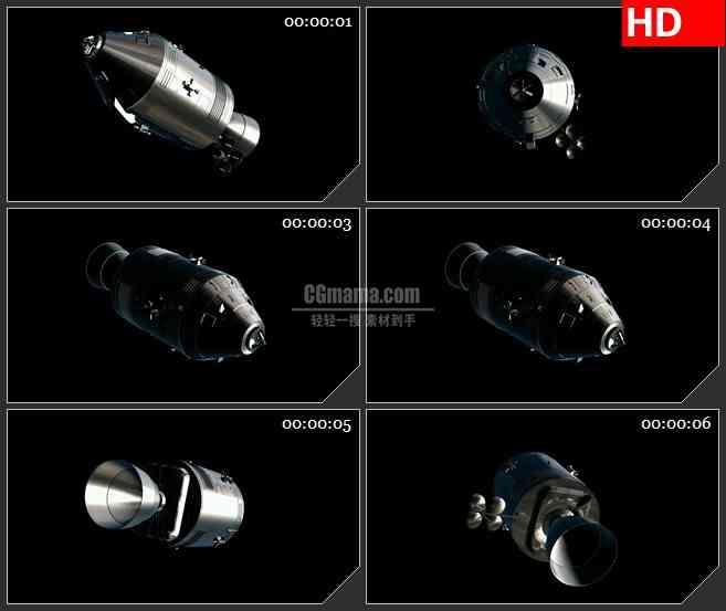 BG1996银色金属卫星特效合成高清透明视频背景素材
