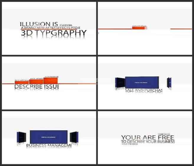 AE3129-简洁3D空间展示 文本展示 商务宣传