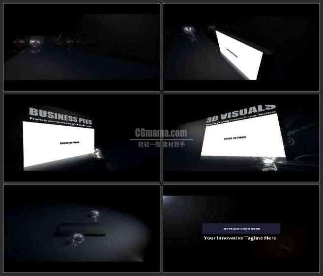 AE3137-黑暗中滚动的球 图文视频展示 企业宣传